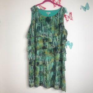 DressBarn sz 24 Beautiful sleeveless ruffled dress
